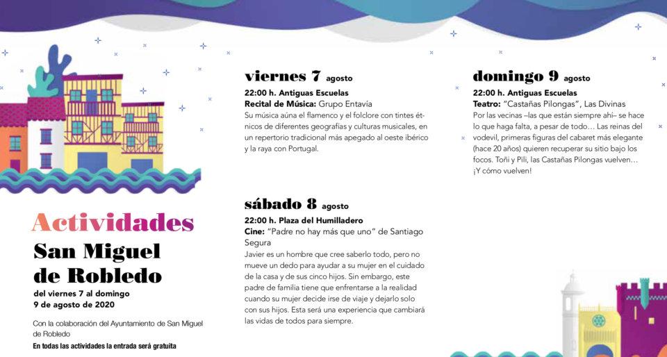 San Miguel del Robledo Noches de Cultura Agosto 2020