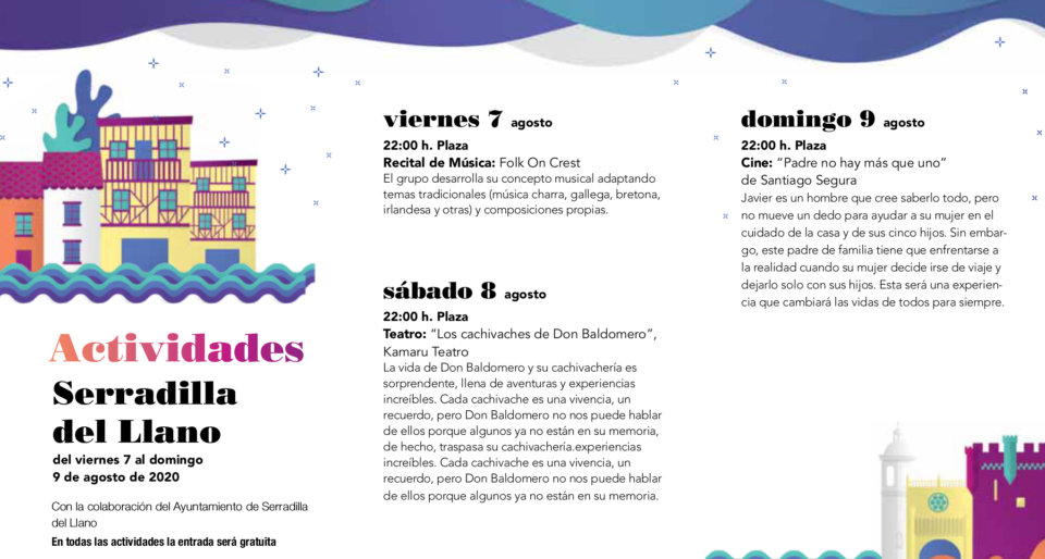 Serradilla del Llano Noches de Cultura Agosto 2020