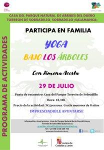 Sobradillo Yoga bajo los árboles Julio 2020