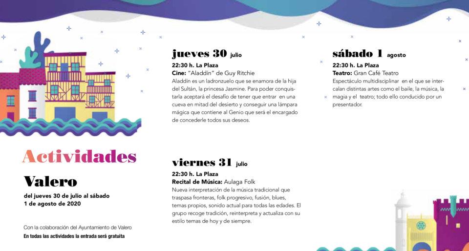 Valero Noches de Cultura Julio agosto 2020