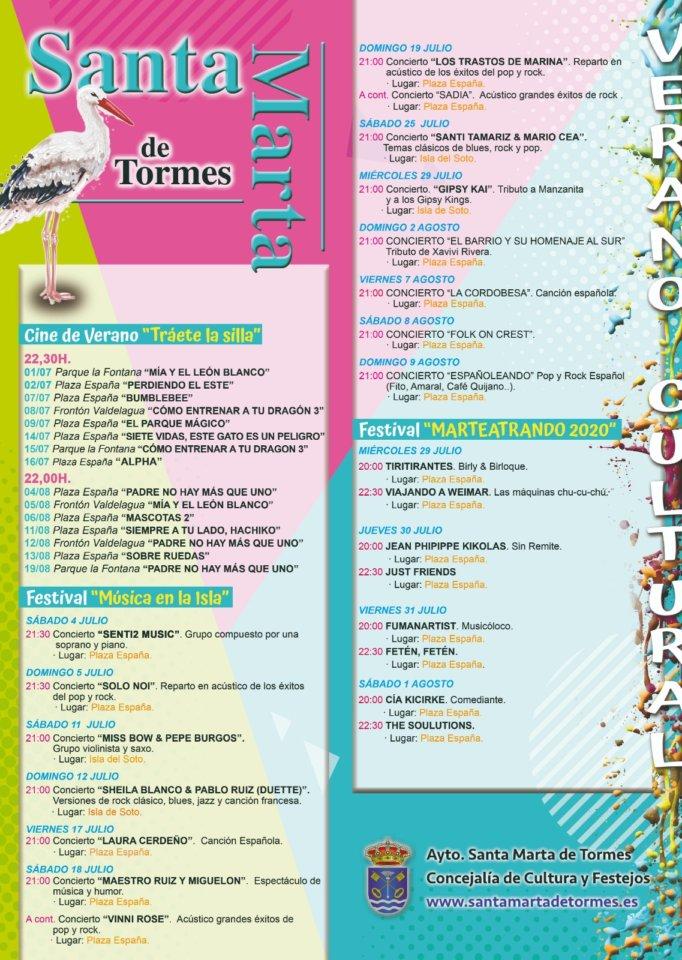Verano Cultural 2020 Santa Marta de Tormes