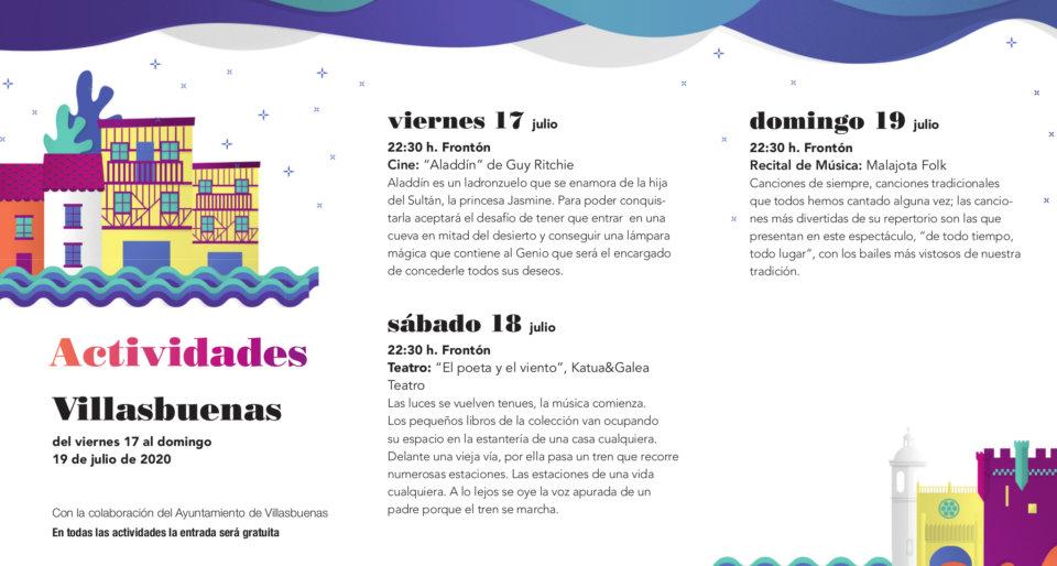 Villasbuenas Noches de Cultura Julio 2020