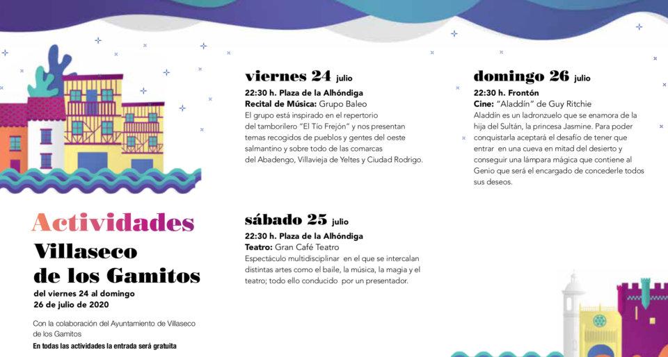 Villaseco de los Gamitos Noches de Cultura Julio 2020