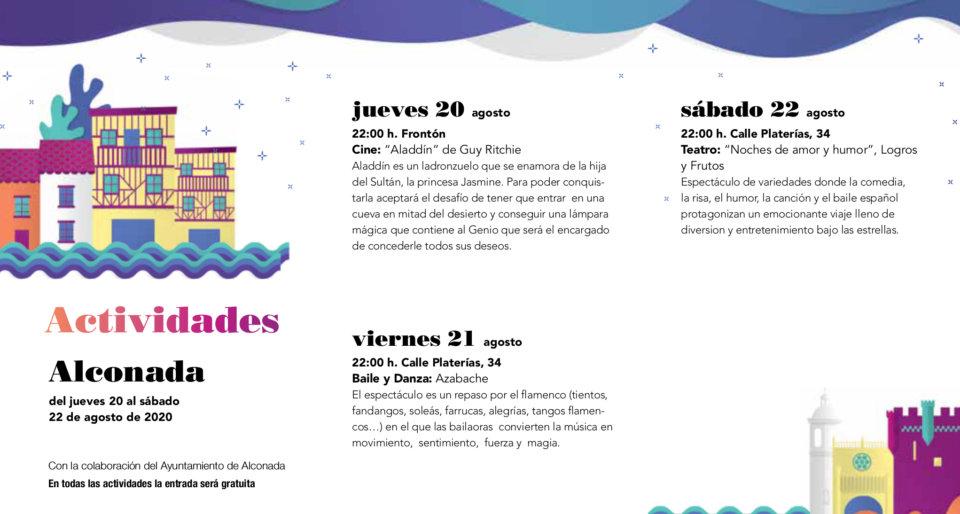 Alconada Noches de Cultura Agosto 2020