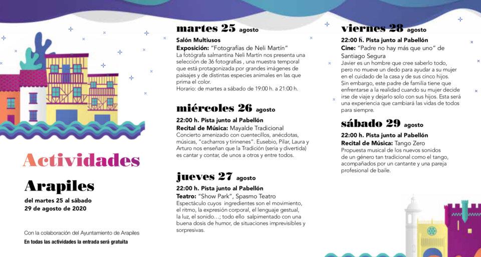 Arapiles Noches de Cultura Agosto 2020