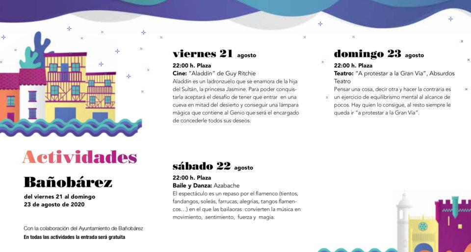 Bañobárez Noches de Cultura Agosto 2020
