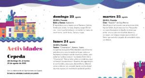 Cepeda Noches de Cultura Agosto 2020