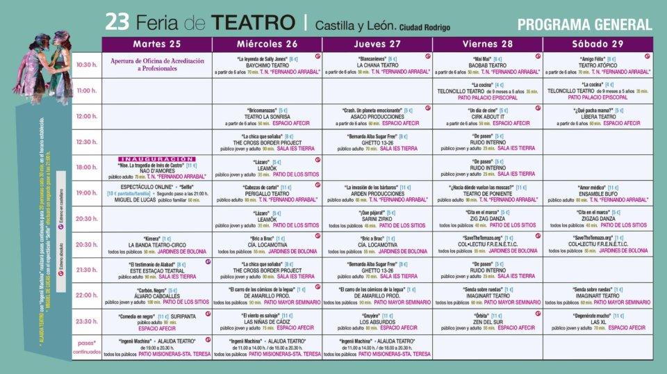 Ciudad Rodrigo XXIII Feria de Teatro de Castilla y León Agosto 2020