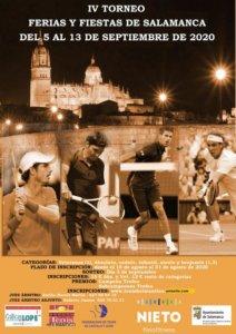 Ferias y Fiestas 2020 IV Torneo de Tenis Salamanca Septiembre