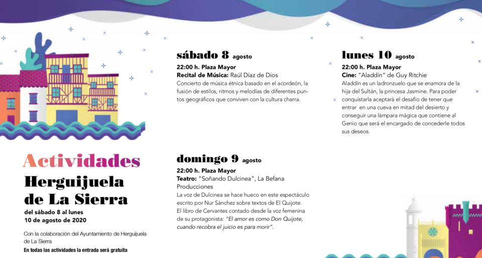 Herguijuela de la Sierra Noches de Cultura Agosto 2020