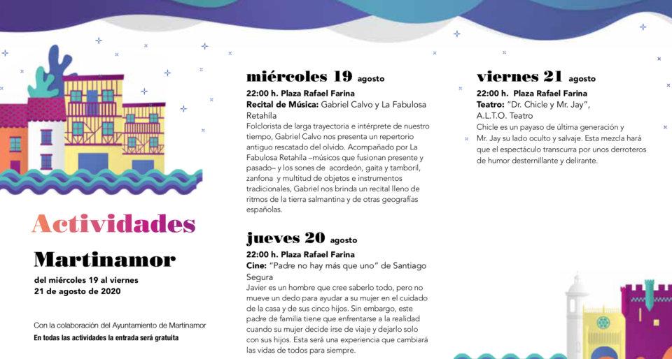 Martinamor Noches de Cultura Agosto 2020