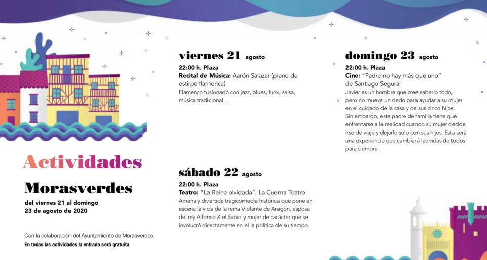 Morasverdes Noches de Cultura Agosto 2020
