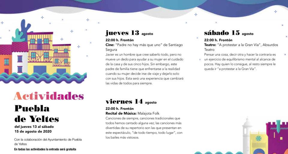 Puebla de Yeltes Noches de Cultura Agosto 2020
