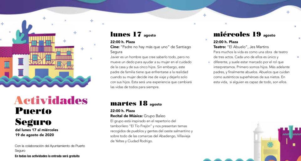 Puerto Seguro Noches de Cultura Agosto 2020