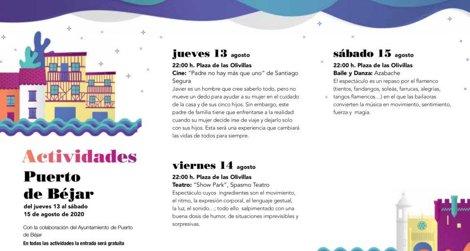 Puerto de Béjar Noches de Cultura Agosto 2020