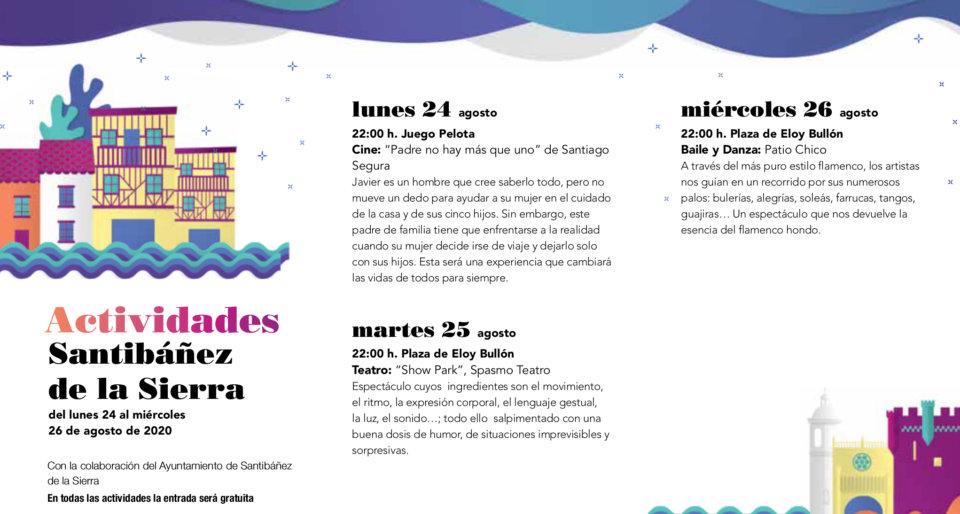 Santibáñez de la Sierra Noches de Cultura Agosto 2020