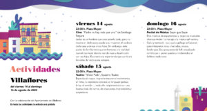 Villaflores Noches de Cultura Agosto 2020