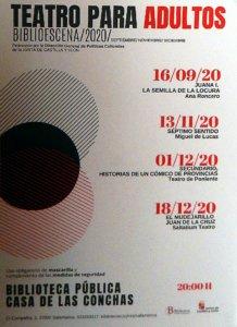 Casa de las Conchas Teatro para adultos Salamanca Septiembre noviembre diciembre 2020