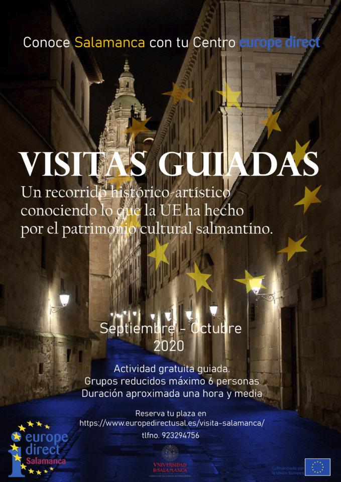 Centro de Información Europe Direct Visitas guiadas Salamanca Septiembre octubre 2020