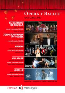 Cines Van Dyck Ópera y Ballet Octubre 2020 Salamanca
