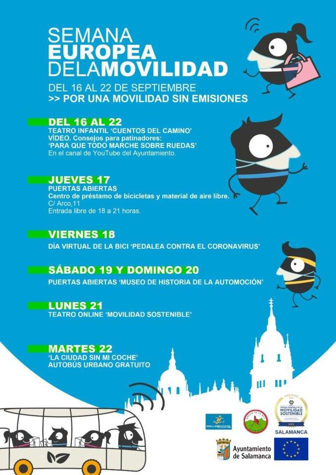 Salamanca Semana Europea de la Movilidad 2020 Septiembre