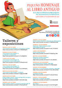 Salamanca Pequeño homenaje al Libro Antiguo Octubre noviembre 2020