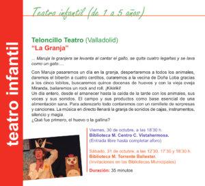 Salamanca Teloncillo Teatro Octubre 2020