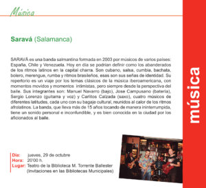Torrente Ballester Saravá Salamanca Octubre 2020