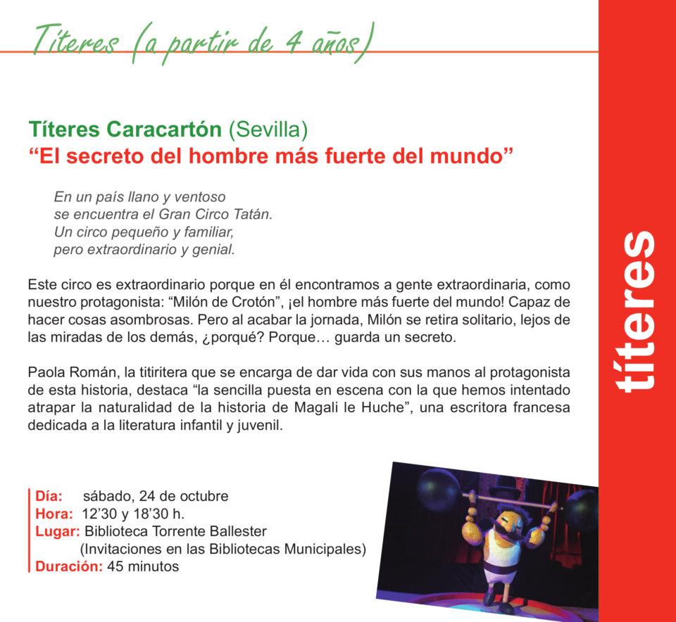 Torrente Ballester Títeres Caracartón Salamanca Octubre 2020
