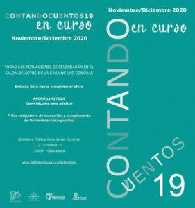 Casa de las Conchas Contando Cuentos 19 en curso Salamanca Noviembre diciembre 2020