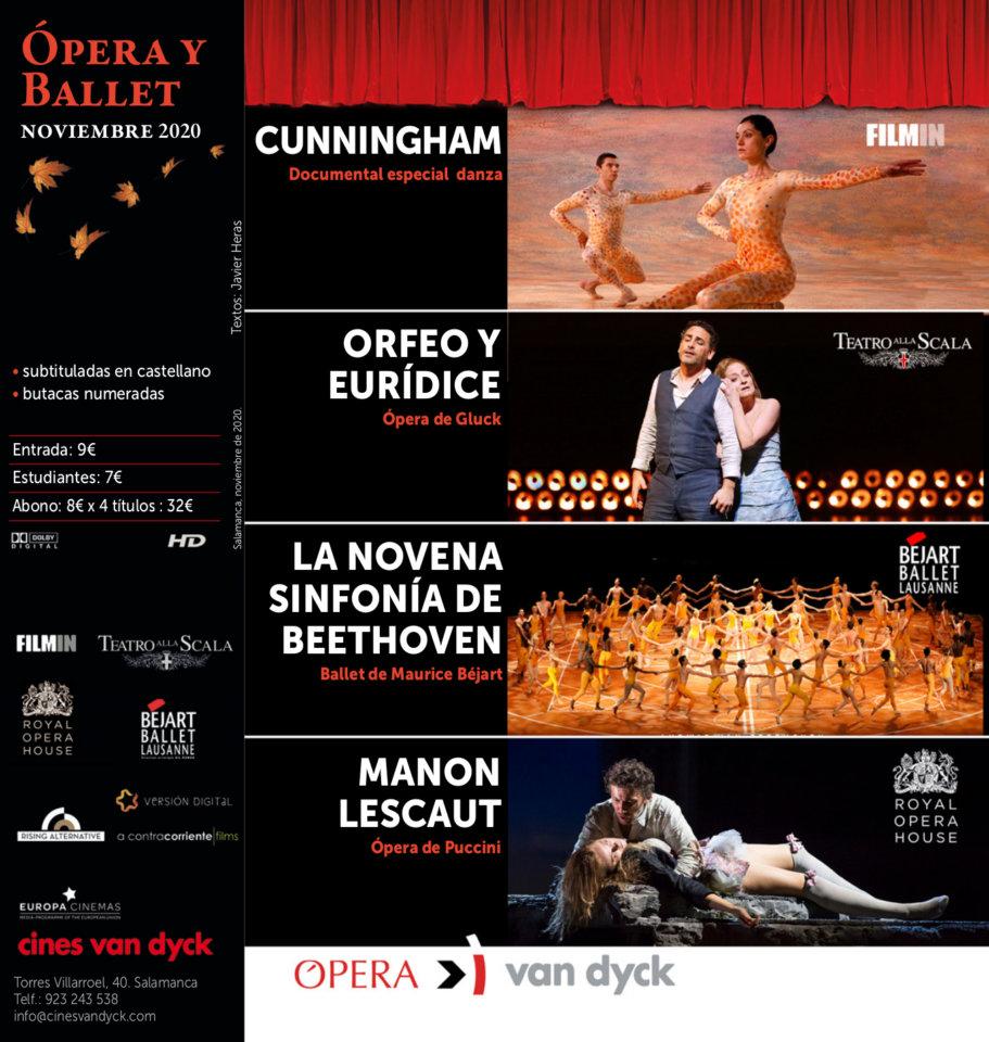 Cines Van Dyck Ópera y Ballet Noviembre 2020 Salamanca