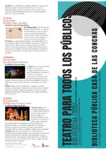 Casa de las Conchas Teatro para todos los públicos Salamanca Diciembre 2020