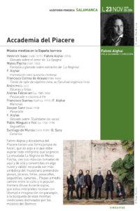 Hospedería Fonseca Salamanca Barroca 2020-2021 Fahmi Alqhai y Accademia del Piacere Universidad de Salamanca Noviembre