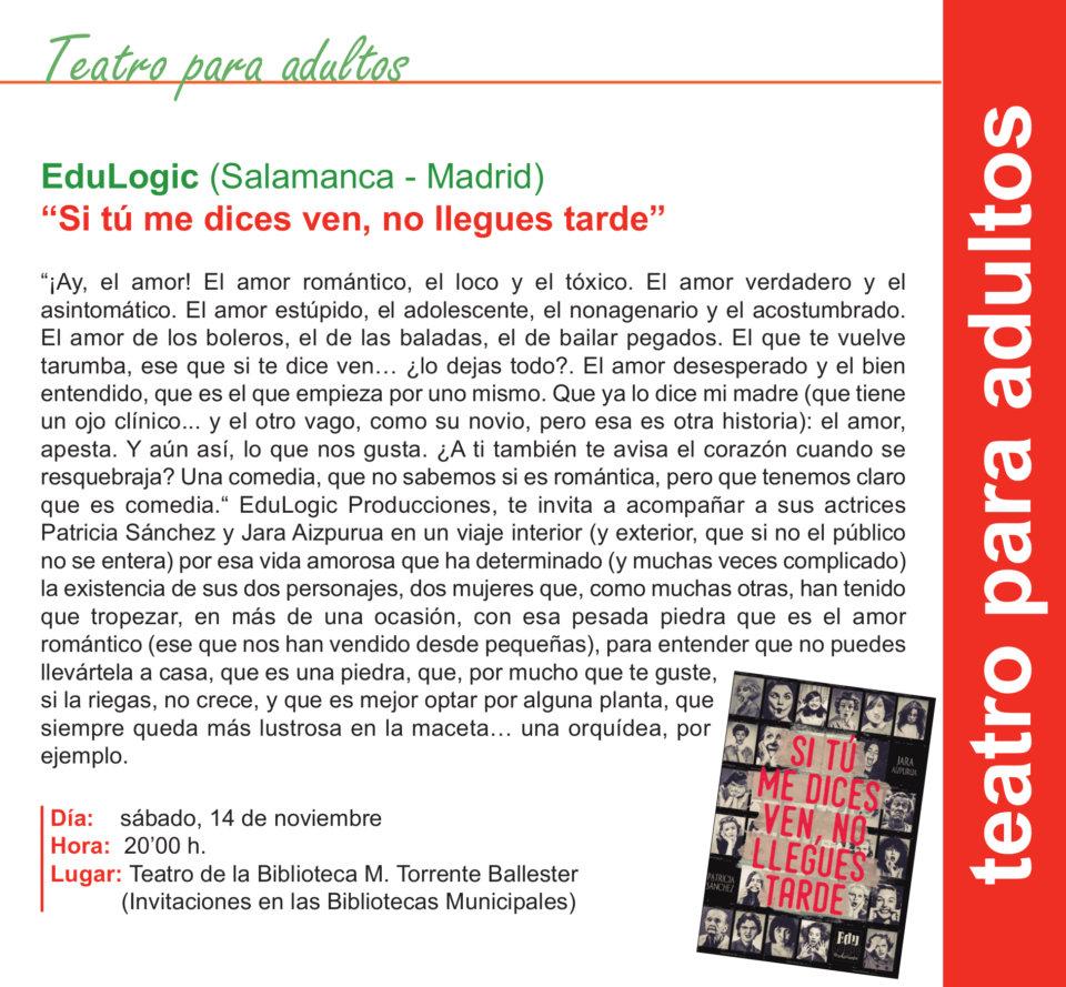Torrente Ballester Edulogic Salamanca Noviembre 2020