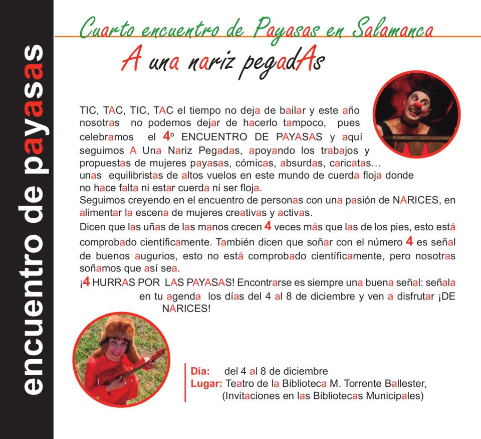 Torrente Ballester IV Encuentro de Payasas A una nariz pegadas Salamanca Diciembre 2020