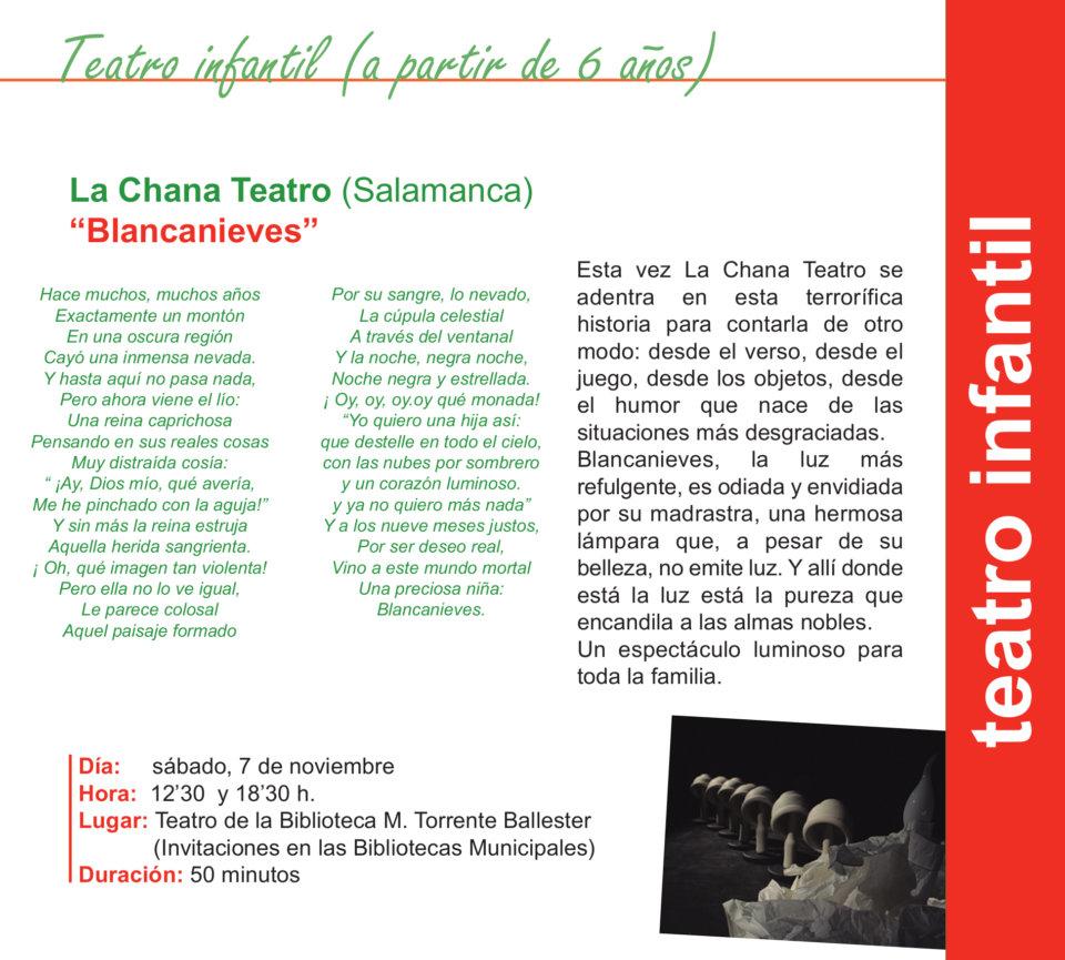 Torrente Ballester La Chana Teatro Salamanca Noviembre 2020