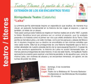 Torrente Ballester Xirriquiteula Teatre Salamanca Noviembre 2020