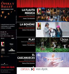 Cines Van Dyck Ópera y Ballet Diciembre 2020 Salamanca