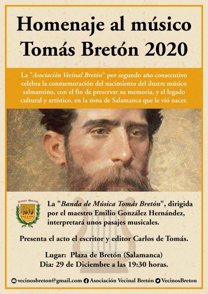Plaza de Bretón Homenaje al músico Tomás Bretón Salamanca Diciembre 2020