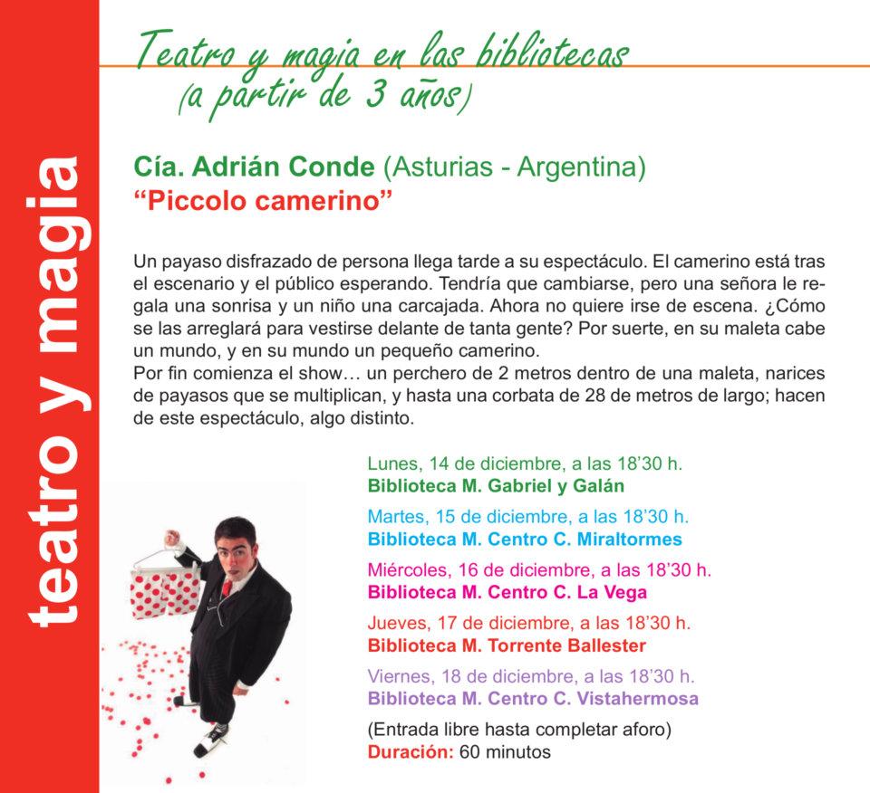 Salamanca Piccolo camerino Diciembre 2020