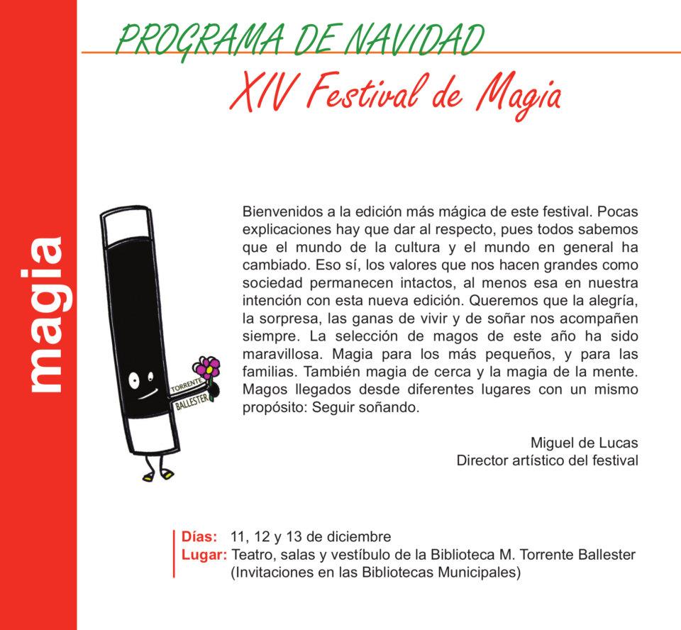 Torrente Ballester XIV Festival de Magia Salamanca Diciembre 2020