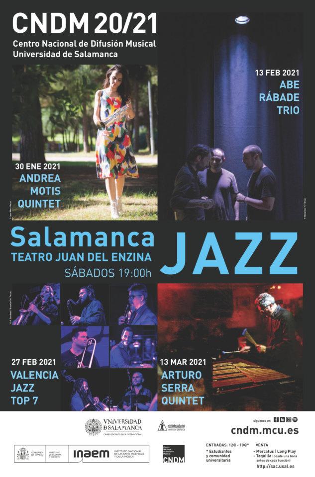 Aula Teatro Juan del Enzina Salamanca Jazz Enero febrero marzo 2021