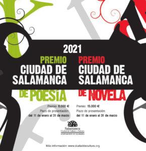 Extracto Bases Premios Ciudad de Salamanca de Poesía y de Novela 2021