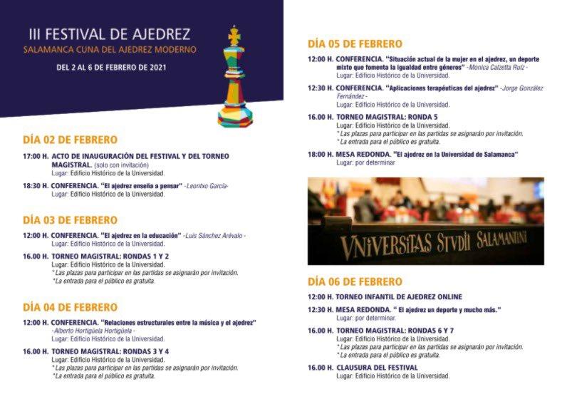 Salamanca III Festival de Ajedrez Febrero 2021