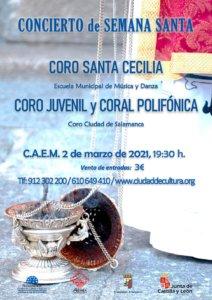 Centro de las Artes Escénicas y de la Música CAEM Concierto de Música Coral de Semana Santa Marzo 2021