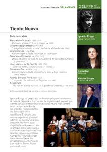 Hospedería Fonseca Salamanca Barroca 2020-2021 Tiento Nuovo Universidad de Salamanca Febrero
