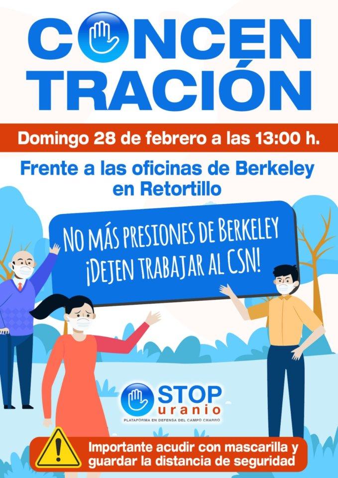 Retortillo Concentración Stop Uranio Febrero 2021
