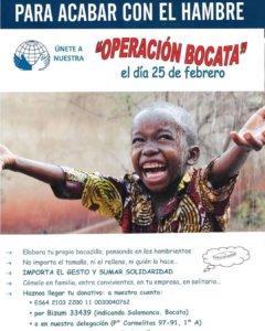 Salamanca Manos Unidas Operación Bocata 2021