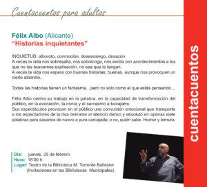 Torrente Ballester Historias inquietantes Salamanca Febrero 2021