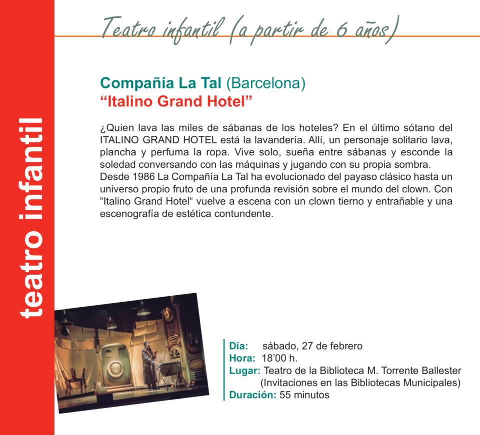 Torrente Ballester Italino Grand Hotel Salamanca Febrero 2021